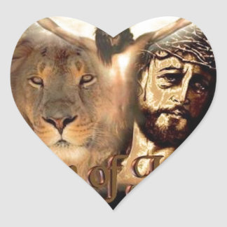 Lion of Judah Heart Sticker