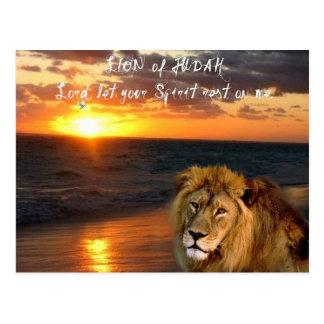 Lion of Judah Inspirational Postcard