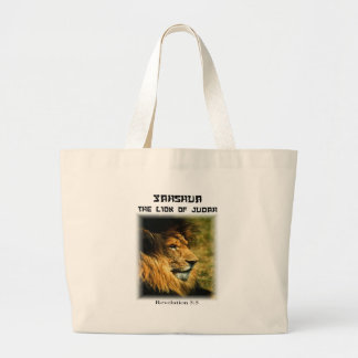 Lion of Judah Large Tote Bag