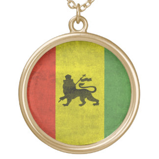Lion of Judah Round Pendant Necklace