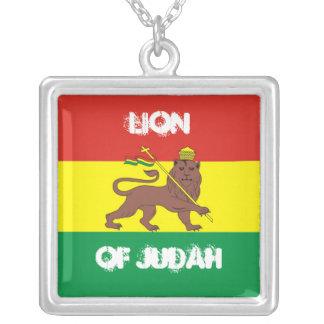 LION OF JUDAH (necklace) Square Pendant Necklace
