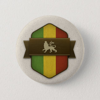 Lion of Judah Rasta Shield Button