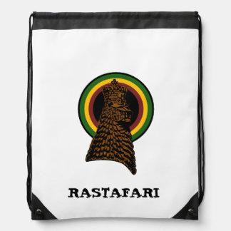 Lion of Judah Rastafari Sling Bag Drawstring Backpack