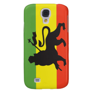 Lion of Judah Rastafarian Flag Samsung Galaxy S4 Case