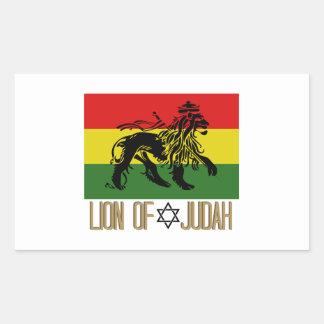 Lion Of Judah Rectangular Sticker