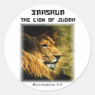 Lion of Judah Round Sticker