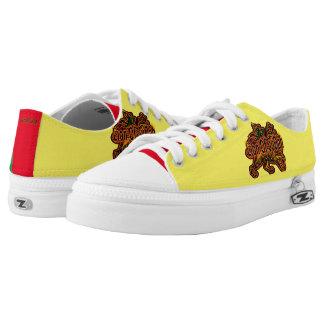 Lion of Judah Zipz Low Top Shoes,US Women 10 Printed Shoes