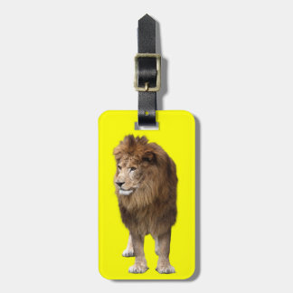 Lion of male luggage tag