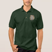 Lion of male polo shirt