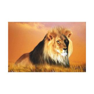 Lion of South Africa fractal art Canvas Print