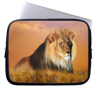 Lion of South Africa fractal art Computer Sleeve
