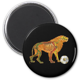Lion of the Cameroons 2010 flag gifts 2 Inch Round Magnet