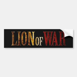 Lion of War Bumper Sticker