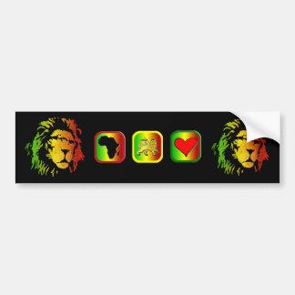 Lion of Zion Judah Reggae Lion Bumper Sticker