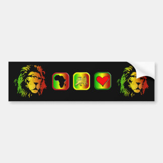 Lion of Zion Judah Reggae Lion Bumper Stickers