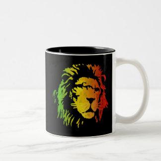 Lion of Zion Judah Reggae Lion Two-Tone Coffee Mug