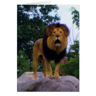 celestesheffey Lion on a Rock Card