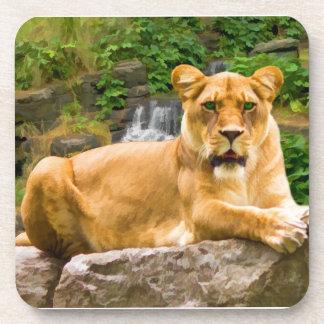 Lion on a Rock Coaster Set Coasters