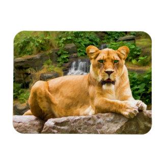 Lion on a Rock Flexible Magnet