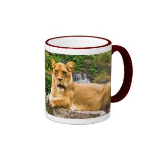 Lion on a Rock Mug