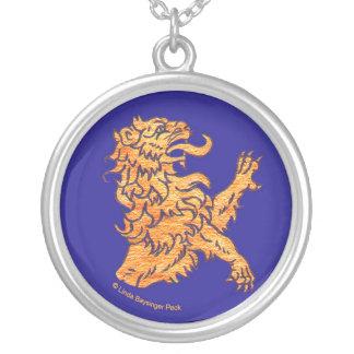 Lion on Blue Custom Jewelry