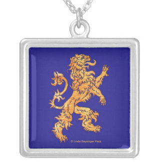 Lion on Blue Necklace