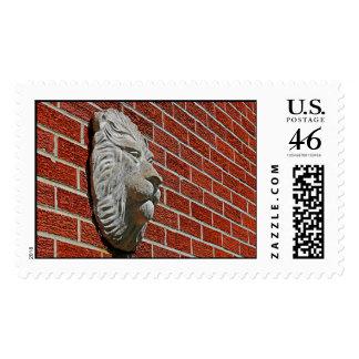 Lion On Bricks Postage