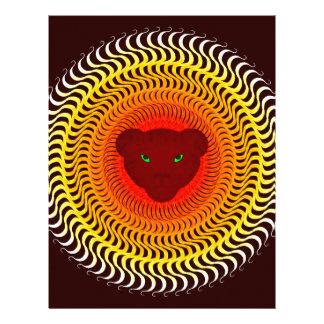 Lion on burgundy letterhead