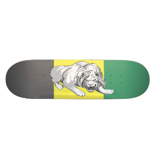 Lion on Color Stained Dek  (Jamaican Colors) Skateboard
