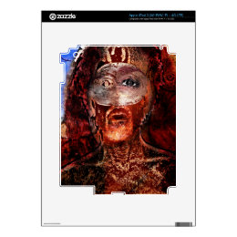 lion on fire decals for iPad 3