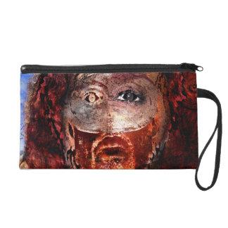 lion on fire wristlet purse