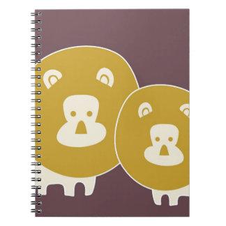 Lion on plain brown background spiral notebook