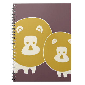 Lion on plain brown background note books