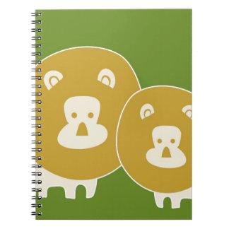 Lion on Plain Green Notebooks