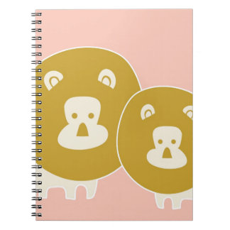 Lion on plain Pink background Spiral Notebooks