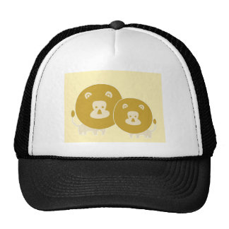 Lion on plain yellow background. trucker hat