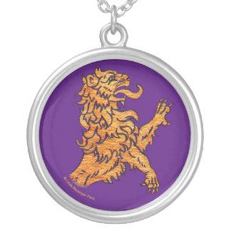 Lion on Purple Pendant