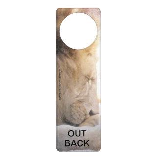Lion Out Back Door Hangers