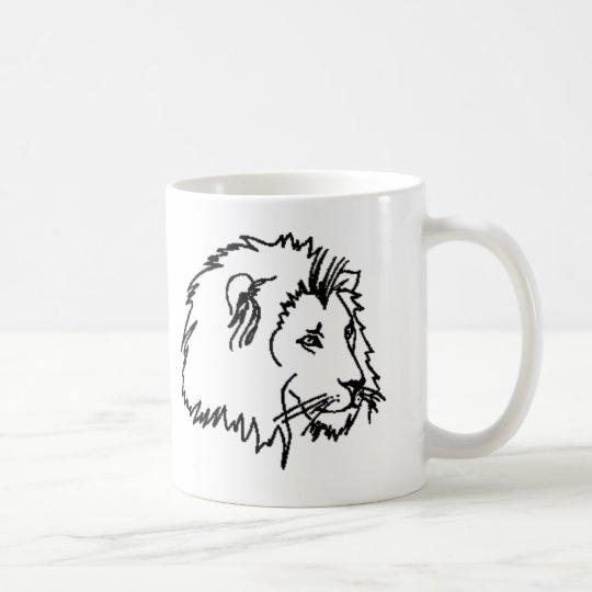 Lion Outline Coffee Mug