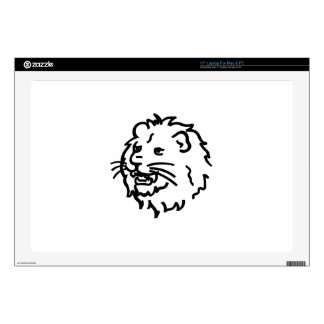 """Lion Outline Decals For 17"""" Laptops"""