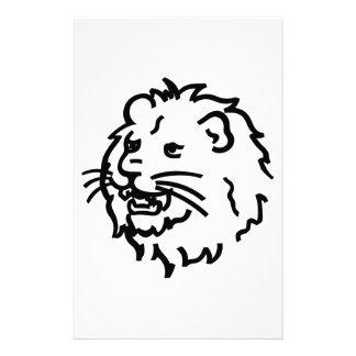 Lion Outline Stationery