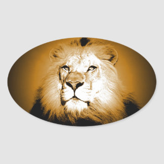 Lion Oval Sticker