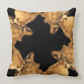Lion Pair Cotton Throw-Pillow Throw Pillow