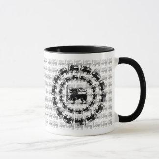 Lion parade Sri Lanka mug