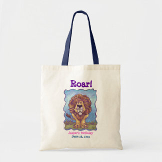 Lion Party Center Tote Bags