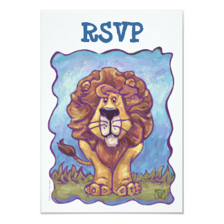 Lion Party Center Coordinating RSVP Cards