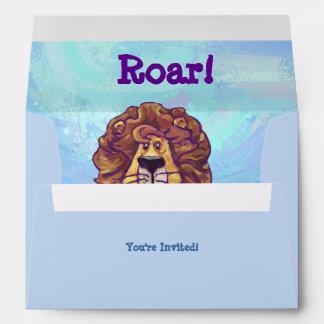 Lion Party Center Envelopes