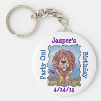 Lion Party Center Keychain