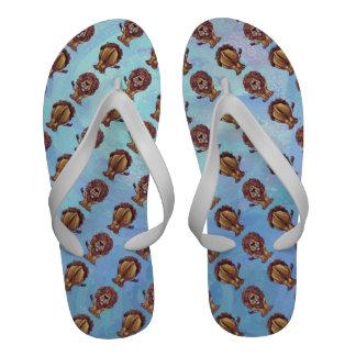 Lion Patterns Flip Flops