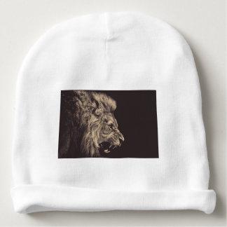lion pencil art lion roar black and white baby beanie